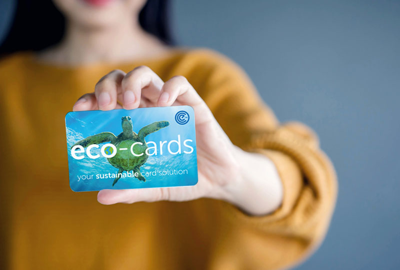 eco-cards recyclable plastic and board cards